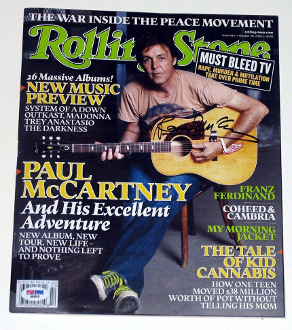Paul McCartney Autograph Signed Rolling Stone Beatles PSA DNA!