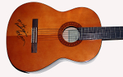 Willie Nelson Autographed Signed Classical Guitar w/ Lyrics RARE