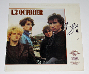 BONO U2 Autograph Signed OCTOBER Album Cover Authentic!