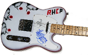 ANTHONY KIEDIS & FLEA Autographed RED HOT CHILI PEPPERS Guitar